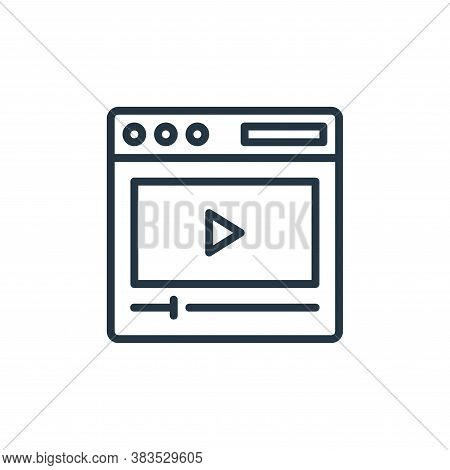 video marketing icon isolated on white background from seo and marketing collection. video marketing