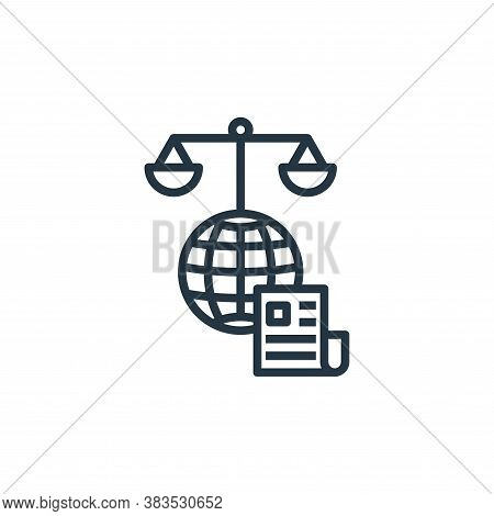 moral icon isolated on white background from detecting fake news collection. moral icon trendy and m
