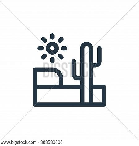 desert icon isolated on white background from animal and nature collection. desert icon trendy and m