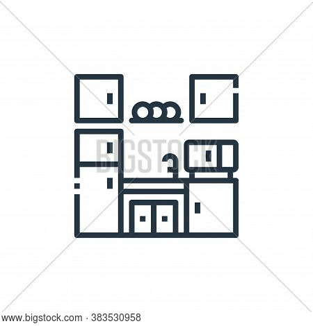 kitchen icon isolated on white background from furniture collection. kitchen icon trendy and modern
