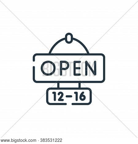 open icon isolated on white background from restaurant collection. open icon trendy and modern open
