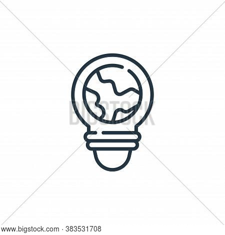 lightbulb icon isolated on white background from mother earth day collection. lightbulb icon trendy