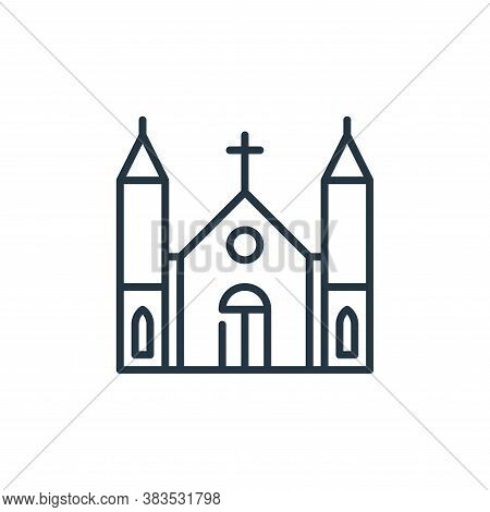 church icon isolated on white background from celebration collection. church icon trendy and modern