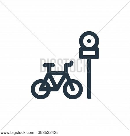 bike parking icon isolated on white background from public transportation collection. bike parking i