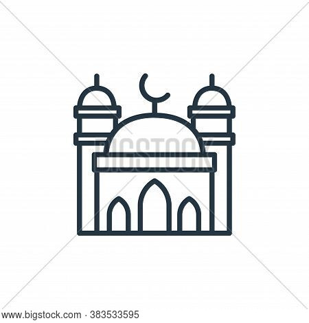 mosque icon isolated on white background from building collection. mosque icon trendy and modern mos