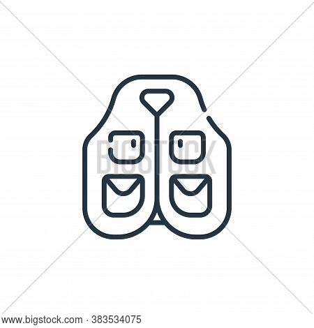 vest icon isolated on white background from adventure collection. vest icon trendy and modern vest s