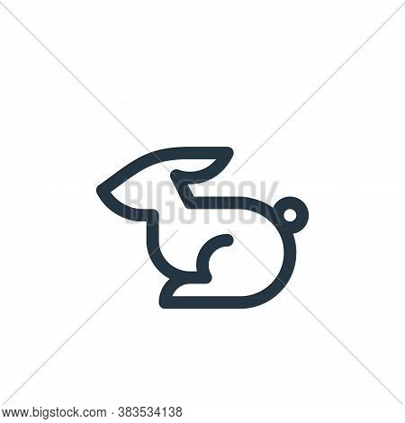 rabbit icon isolated on white background from animal and nature collection. rabbit icon trendy and m