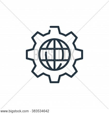 settings icon isolated on white background from seo and marketing collection. settings icon trendy a