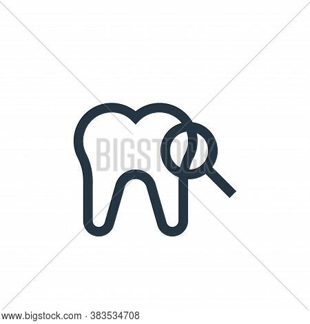 tooth icon isolated on white background from nursing collection. tooth icon trendy and modern tooth