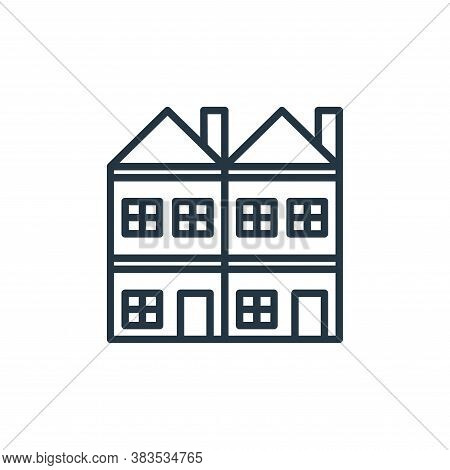 houses icon isolated on white background from building collection. houses icon trendy and modern hou