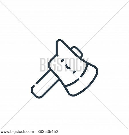axe icon isolated on white background from adventure collection. axe icon trendy and modern axe symb
