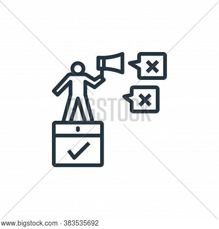 fake news icon isolated on white background from detecting fake news collection. fake news icon tren