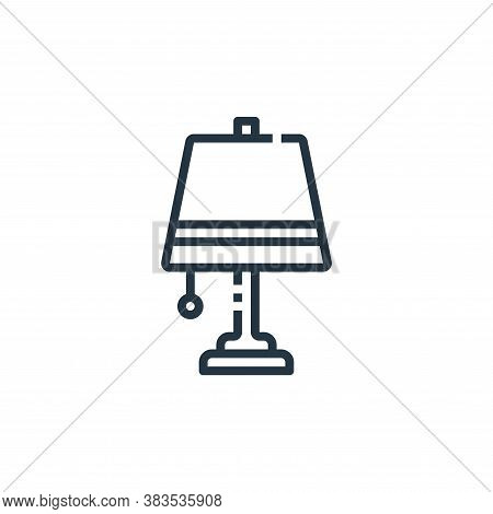 lamp icon isolated on white background from furniture collection. lamp icon trendy and modern lamp s