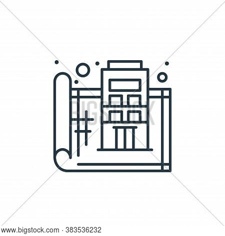 blueprint icon isolated on white background from labour day collection. blueprint icon trendy and mo