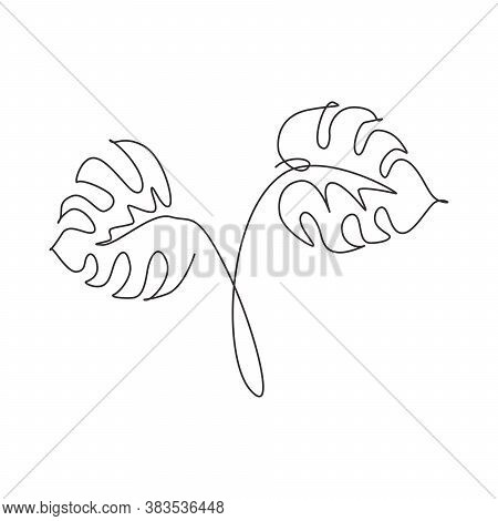 One Single Line Vector Photo Free Trial Bigstock Polish your personal project or design with these tropical leaves transparent png images, make it even more personalized and more attractive. bigstock