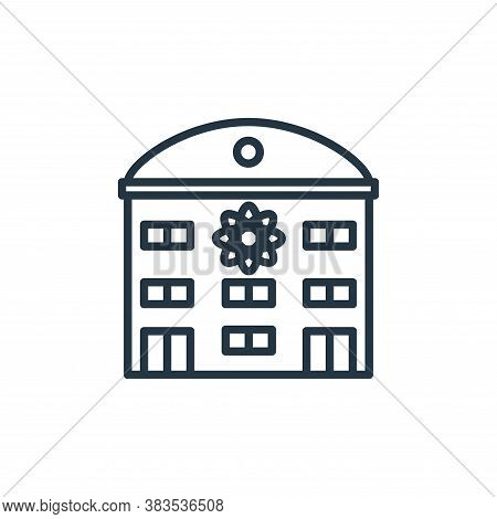 institute icon isolated on white background from building collection. institute icon trendy and mode