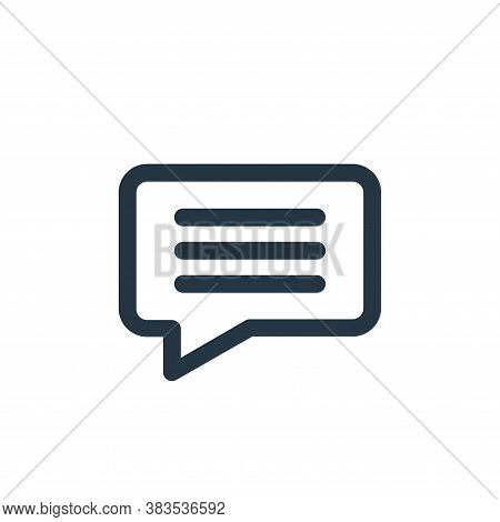 chat icon isolated on white background from interface collection. chat icon trendy and modern chat s