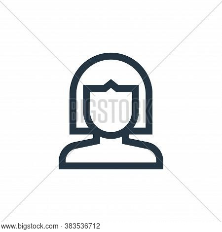 wig icon isolated on white background from hairdressing and barber shop collection. wig icon trendy
