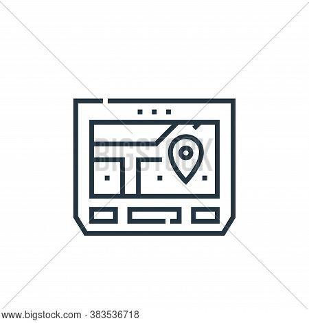 gps navigator icon isolated on white background from driving school collection. gps navigator icon t