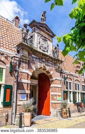 Haarlem, The Netherlands - May 31, 2019: Entrance Frans Hals Museum A Famous Dutch Golden Age Painte
