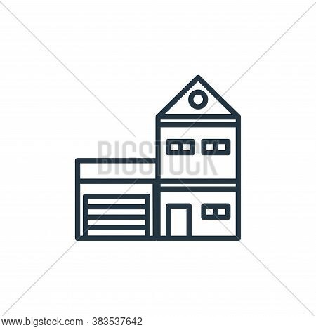 small house icon isolated on white background from building collection. small house icon trendy and
