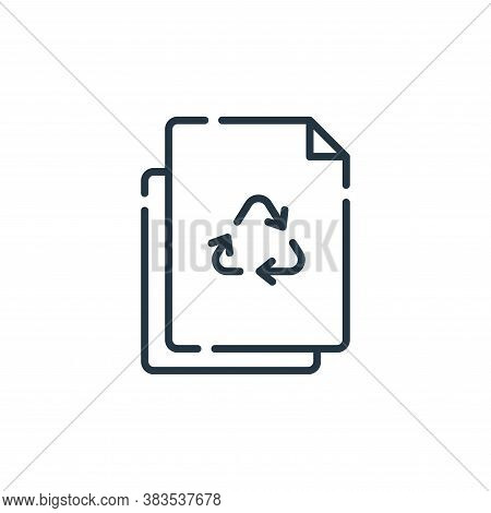 paper recycle icon isolated on white background from mother earth day collection. paper recycle icon