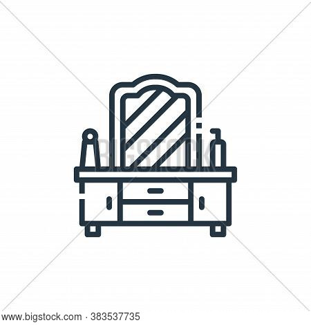 dresser icon isolated on white background from furniture collection. dresser icon trendy and modern