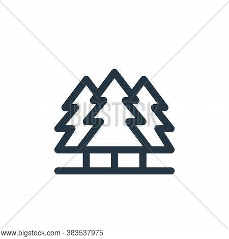 pine icon isolated on white background from animal and nature collection. pine icon trendy and moder