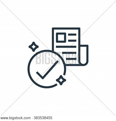 news icon isolated on white background from detecting fake news collection. news icon trendy and mod