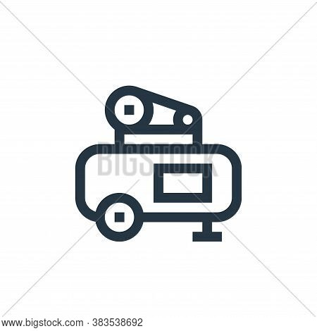 air compressor icon isolated on white background from machinery collection. air compressor icon tren