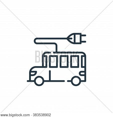 electric bus icon isolated on white background from mother earth day collection. electric bus icon t