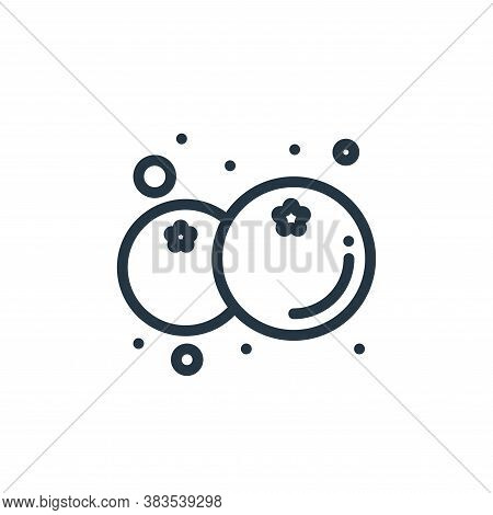 blueberry icon isolated on white background from food collection. blueberry icon trendy and modern b