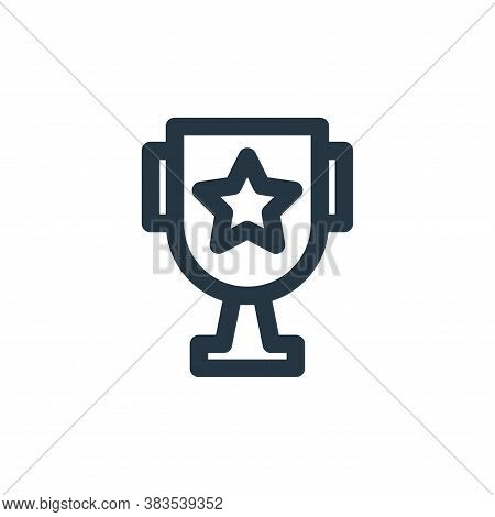 trophy icon isolated on white background from school collection. trophy icon trendy and modern troph
