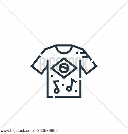 t shirt icon isolated on white background from brazilian carnival collection. t shirt icon trendy an