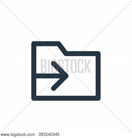 move icon isolated on white background from email ui collection. move icon trendy and modern move sy