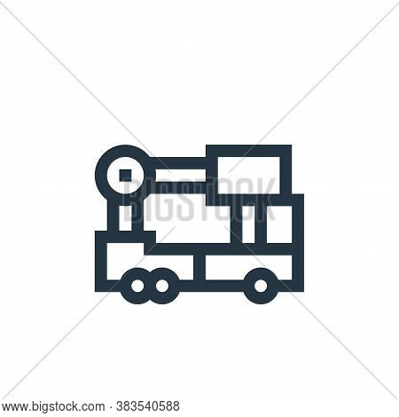 ladder truck icon isolated on white background from machinery collection. ladder truck icon trendy a
