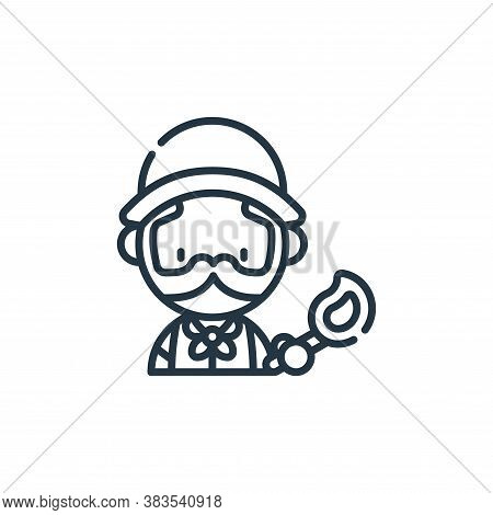 explorer icon isolated on white background from adventure collection. explorer icon trendy and moder