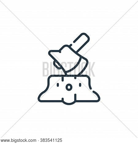 stump icon isolated on white background from adventure collection. stump icon trendy and modern stum