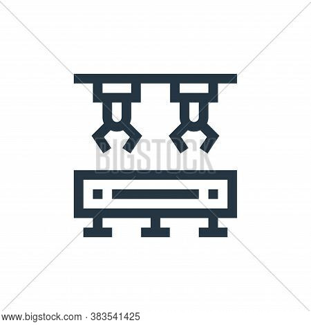 conveyor belt icon isolated on white background from machinery collection. conveyor belt icon trendy