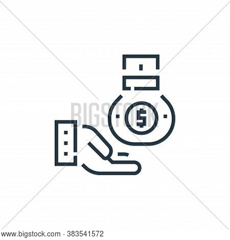 money bag icon isolated on white background from voting elections collection. money bag icon trendy
