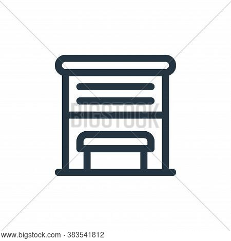 bus stop icon isolated on white background from public transportation collection. bus stop icon tren