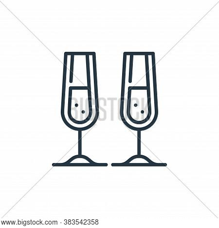 champagne icon isolated on white background from celebration collection. champagne icon trendy and m