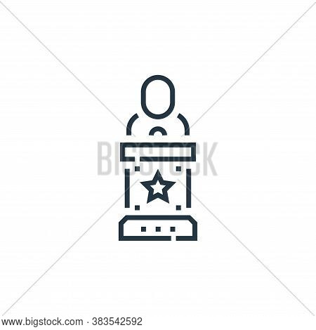 speech icon isolated on white background from voting elections collection. speech icon trendy and mo