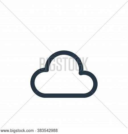 cloud icon isolated on white background from interface collection. cloud icon trendy and modern clou