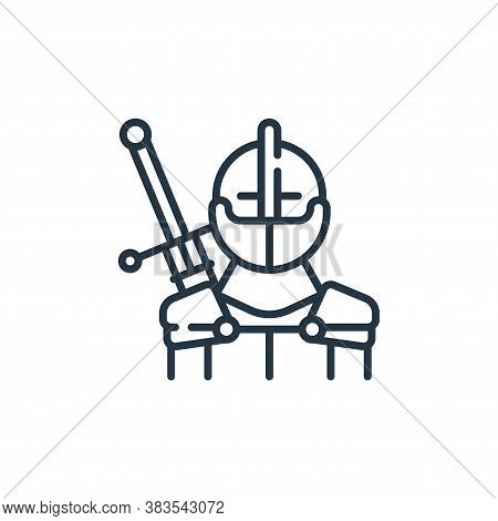 knight icon isolated on white background from fairytale collection. knight icon trendy and modern kn