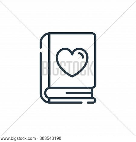 romance icon isolated on white background from books and literature collection. romance icon trendy