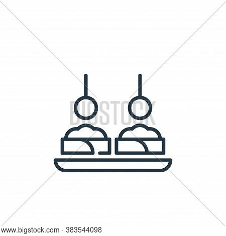 appetizer icon isolated on white background from celebration collection. appetizer icon trendy and m