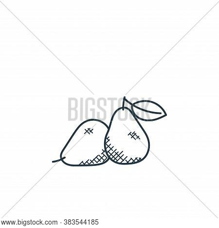 pear icon isolated on white background from food hand drawn collection. pear icon trendy and modern