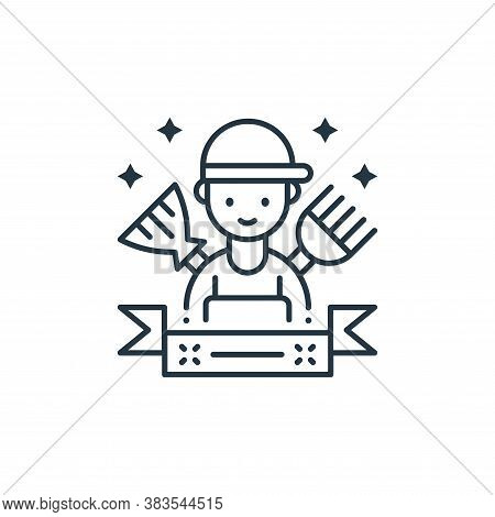 housekeeping icon isolated on white background from labor day collection. housekeeping icon trendy a