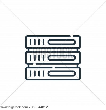 server icon isolated on white background from office collection. server icon trendy and modern serve